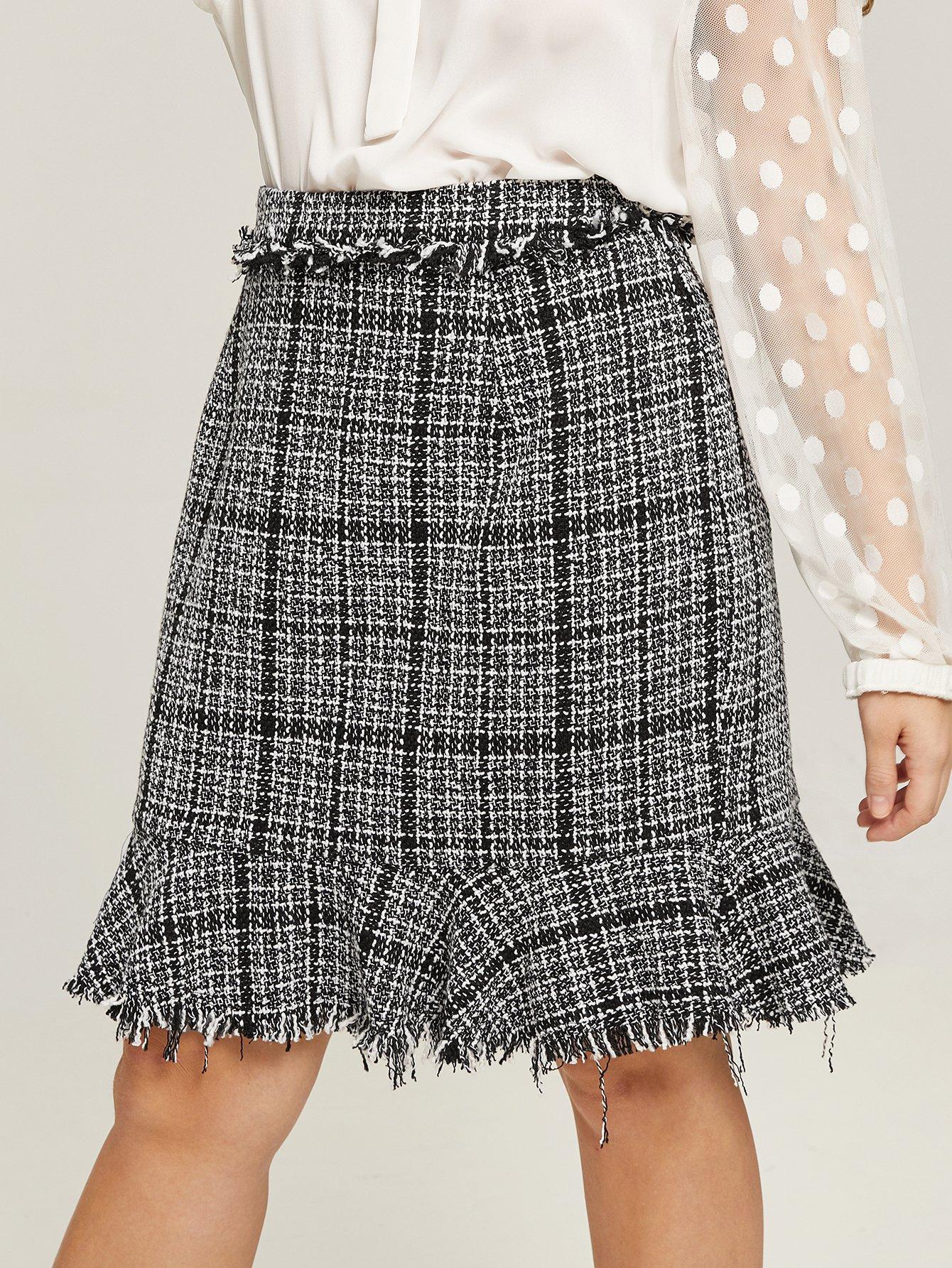 Купить Размера плюс юбка из цветочного сукна, Isabela, SheIn