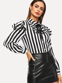 Layered Ruffle Trim Shirt