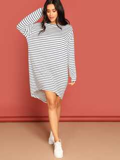 Striped T-Shirts Dress