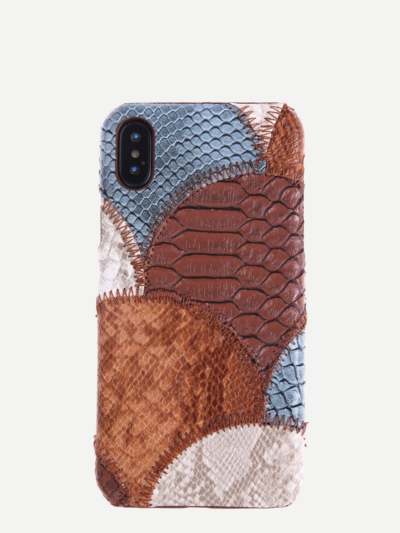 Купить Чехол для iPhone с принтом змеиной кожи, null, SheIn