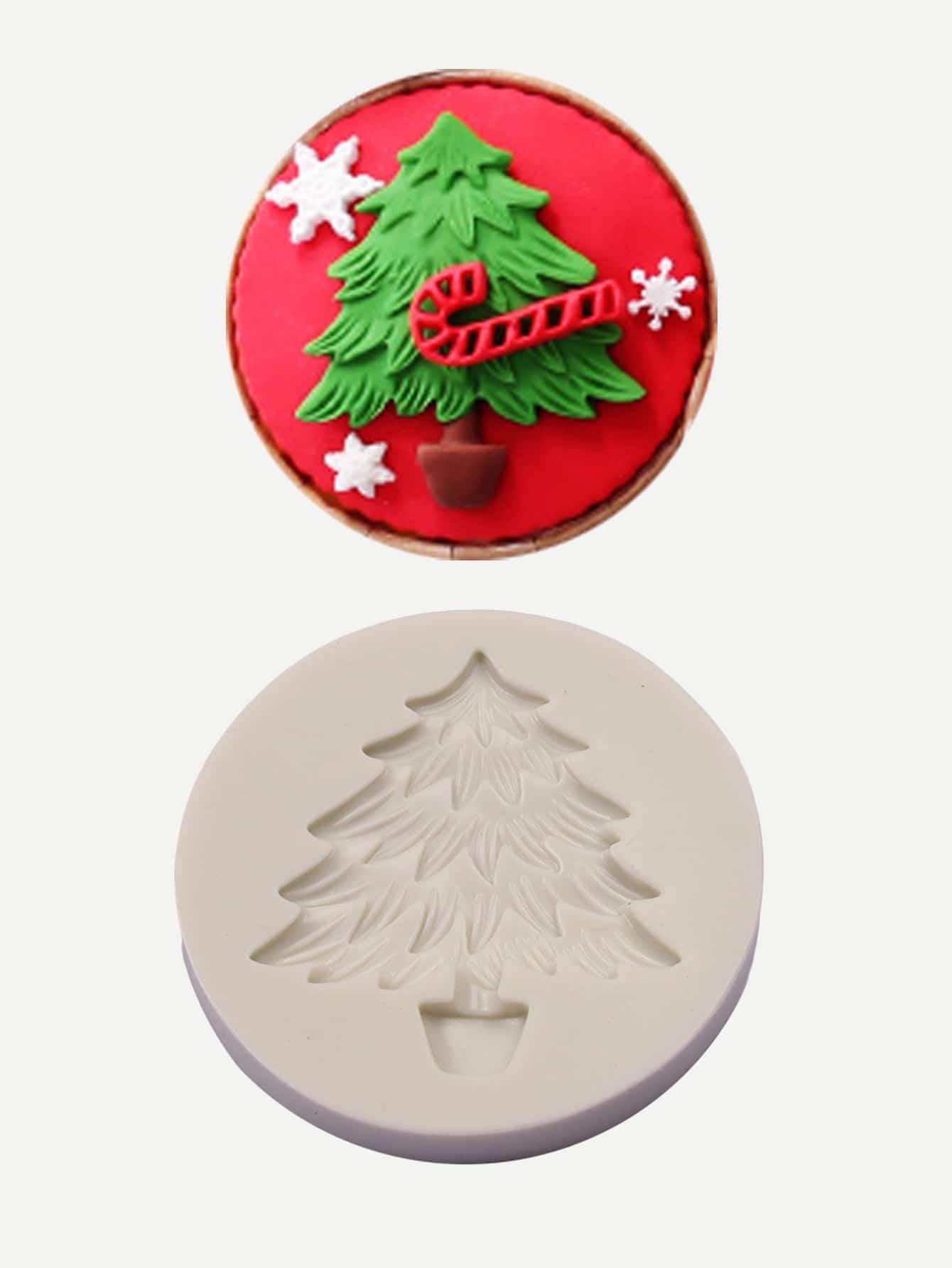 Купить Круглая формовка для выпечки в форме рождественского дерева, null, SheIn