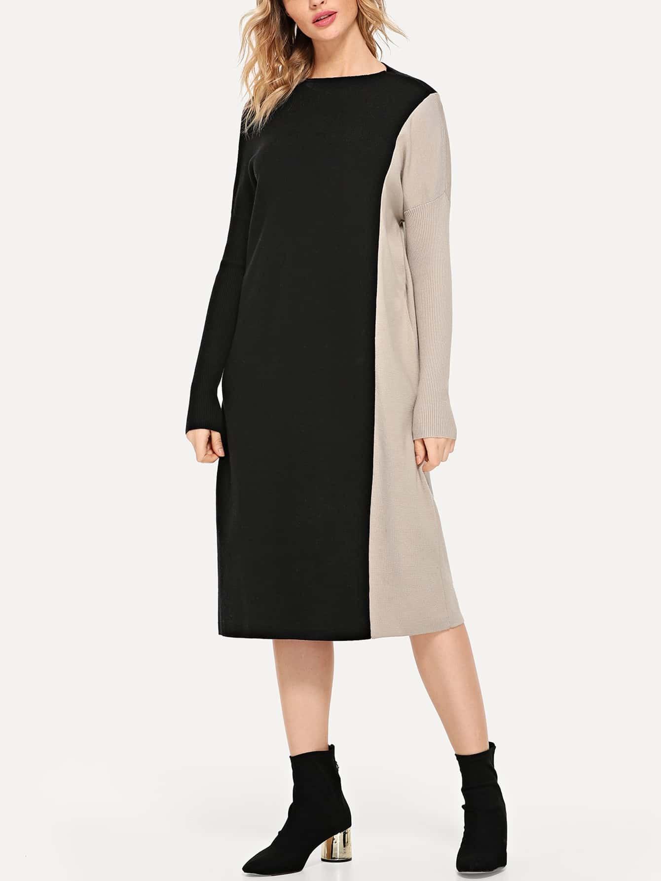 Купить Кроть и шить платье-свитер, Nathane, SheIn