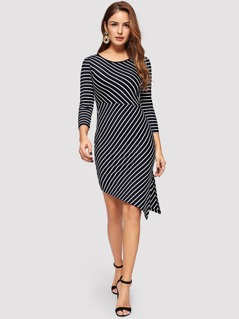 Split Striped Dress