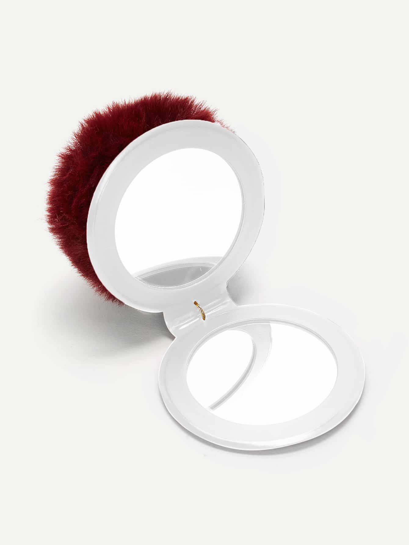Купить Брелок для ключей в форме зеркала с помпоном, null, SheIn