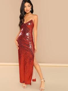 Sequins Cami Split Dress