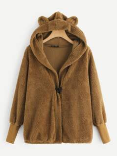 Teddy Hooded Jacket With Ears