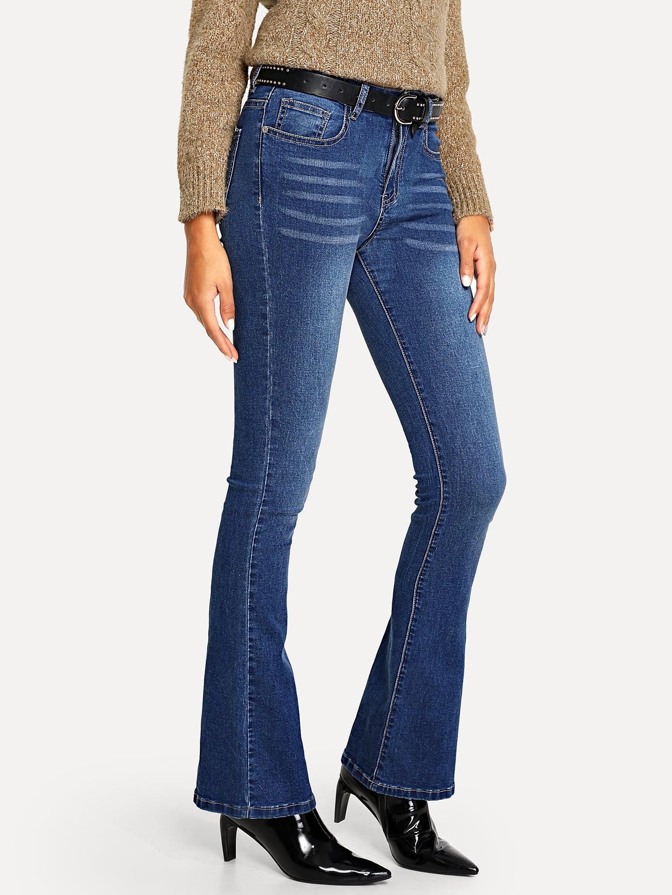 Модные джинсы клеш SheIn