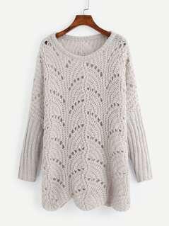 Loose Knit Longline Sweater