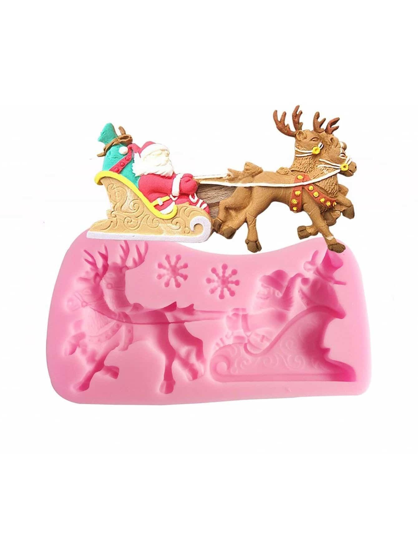 Купить Формовка для выпечки в форме рождественской оленя 1 шт, null, SheIn