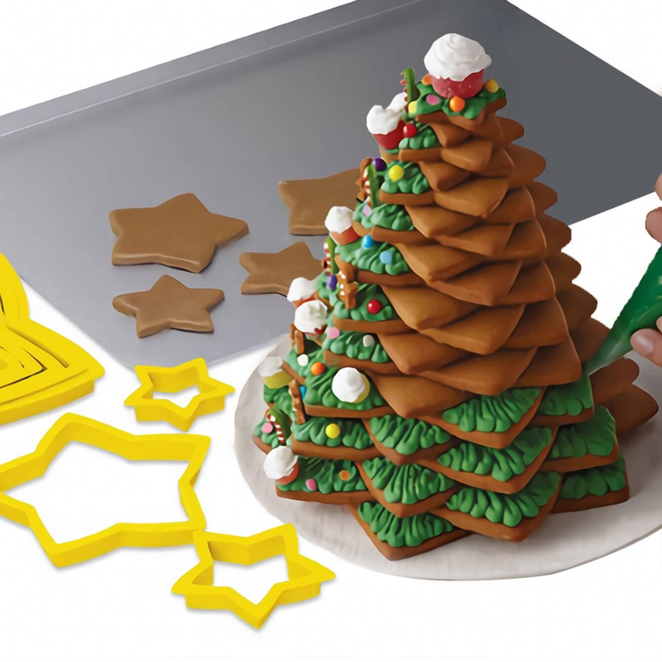 Kerstster bakvorm 6st
