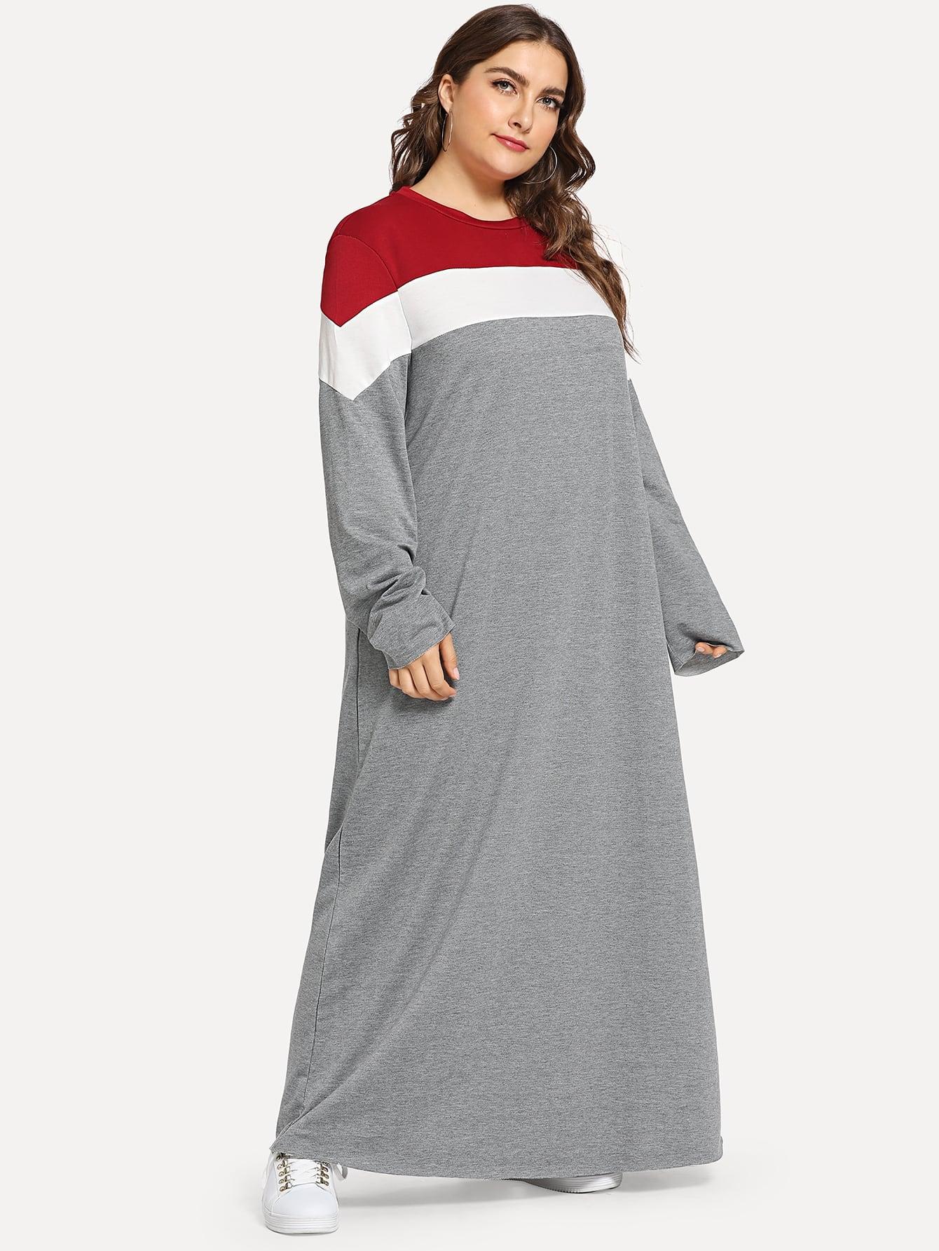 Купить Кроить и шить длинное платье размера плюс, Franziska, SheIn