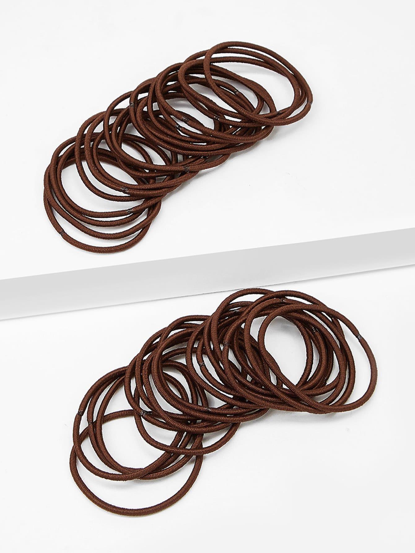 Фото - Эластичные резинки для волос 38шт. от SheIn цвет коричневые