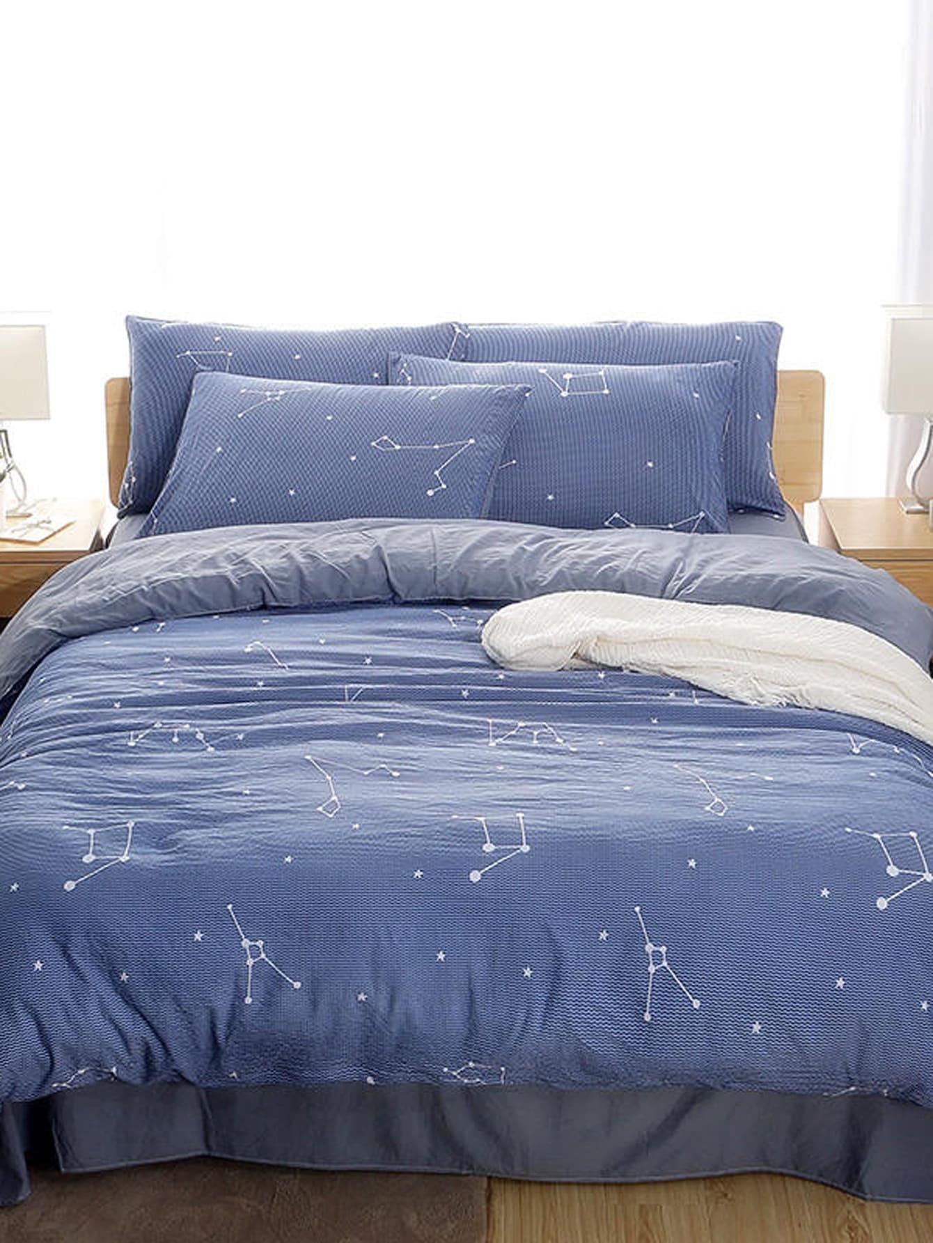 Купить Комплект постельного белья с рисунками Гороскопов, null, SheIn