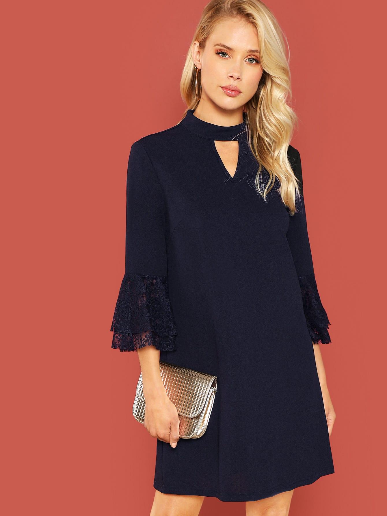 Купить Стильное платье с кружевной отделкой, Allie Leggett, SheIn