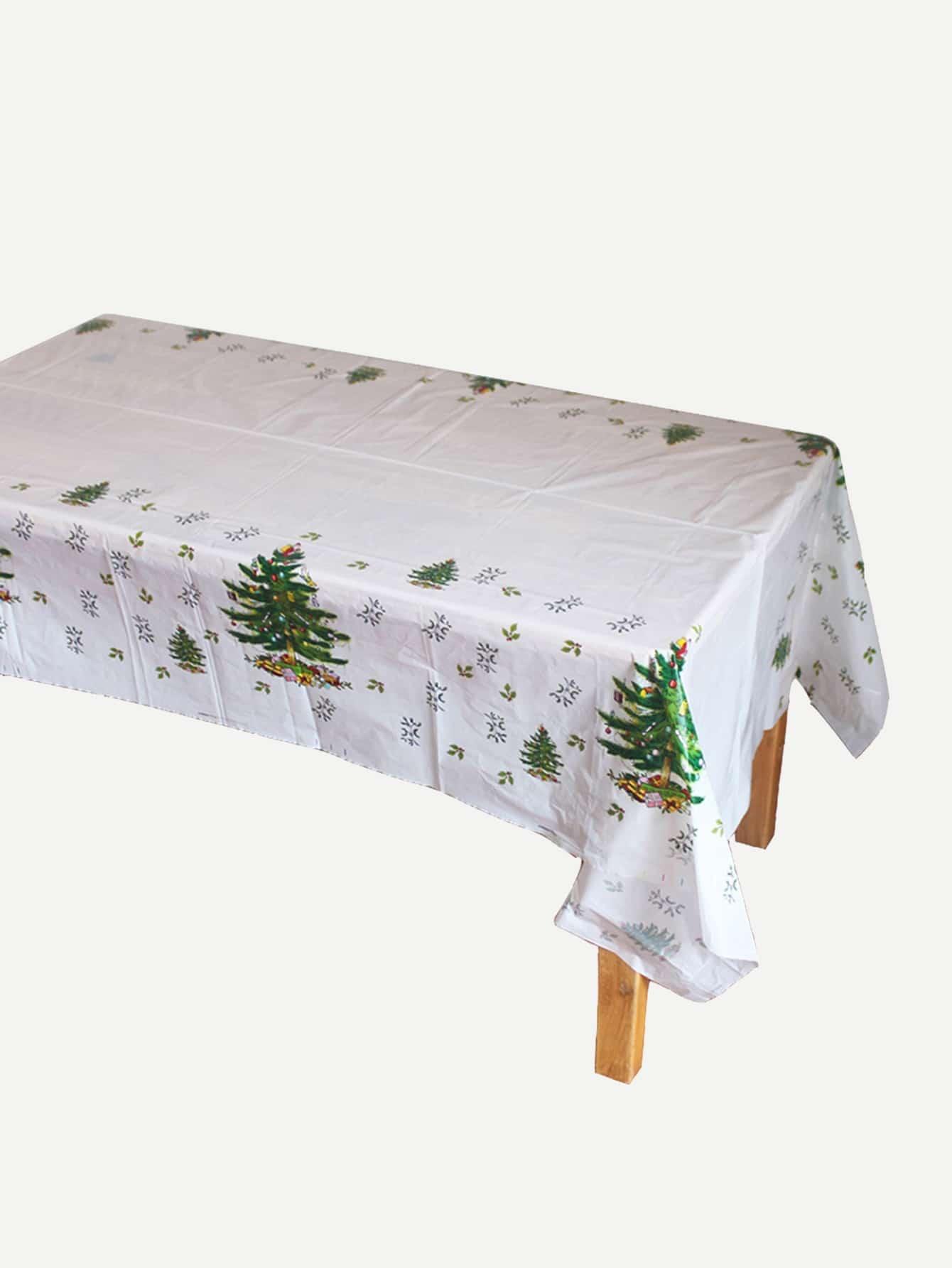 Купить Одноразовая скатерть с принтом рождественского дерева, null, SheIn