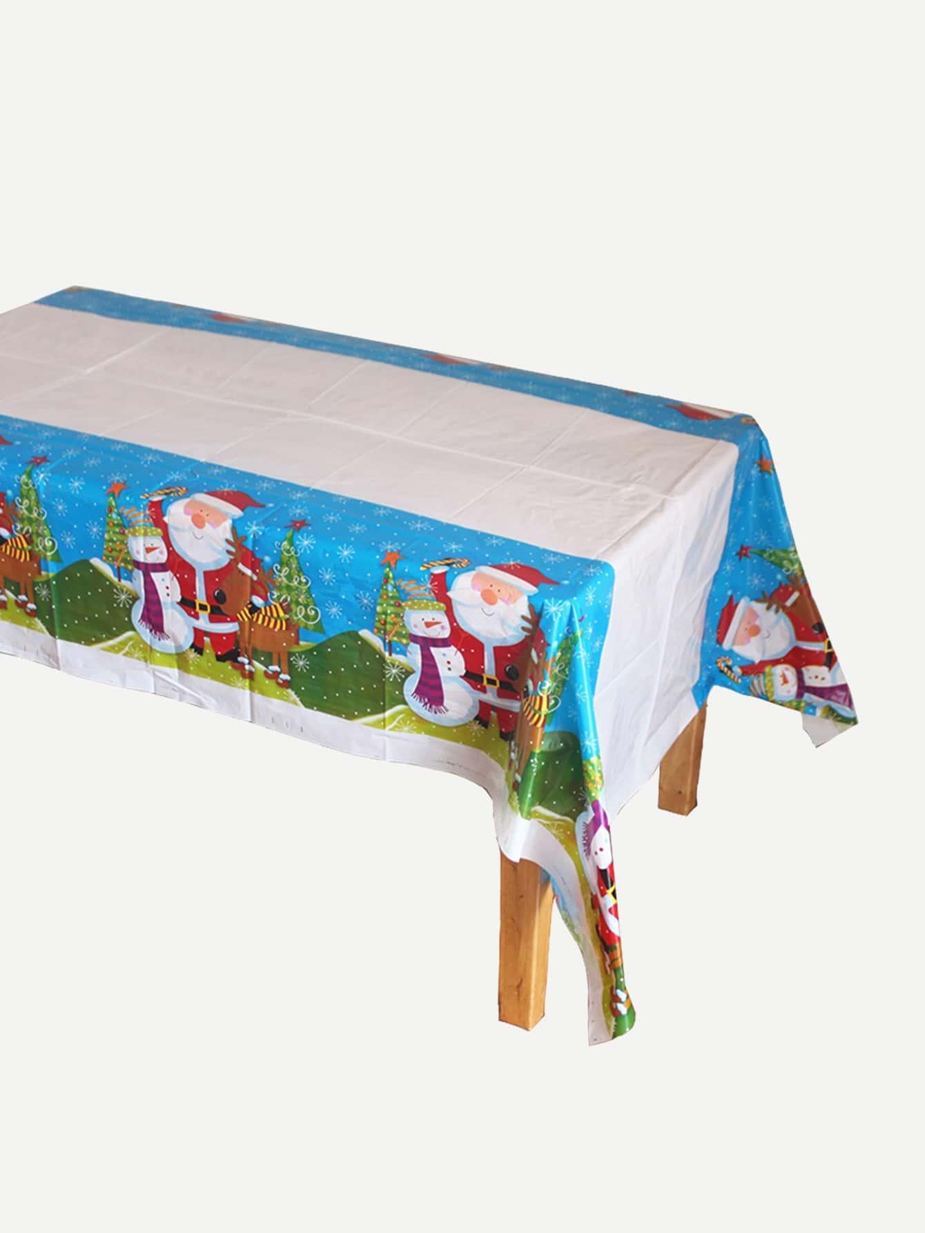 Купить Одноразовая скатерть с принтом рождественского Санта-Клауса, null, SheIn