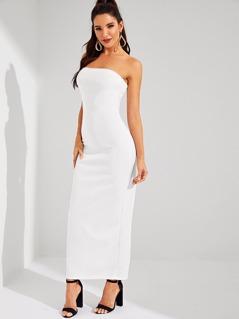 Split Back Tube Dress