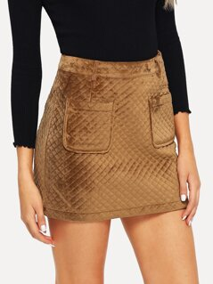Pocket Front Bodycon Skirt