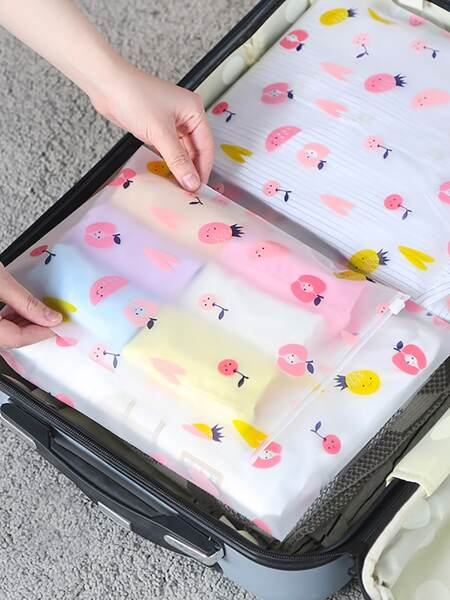 Fruit Print Travel Storage Bag 5pcs