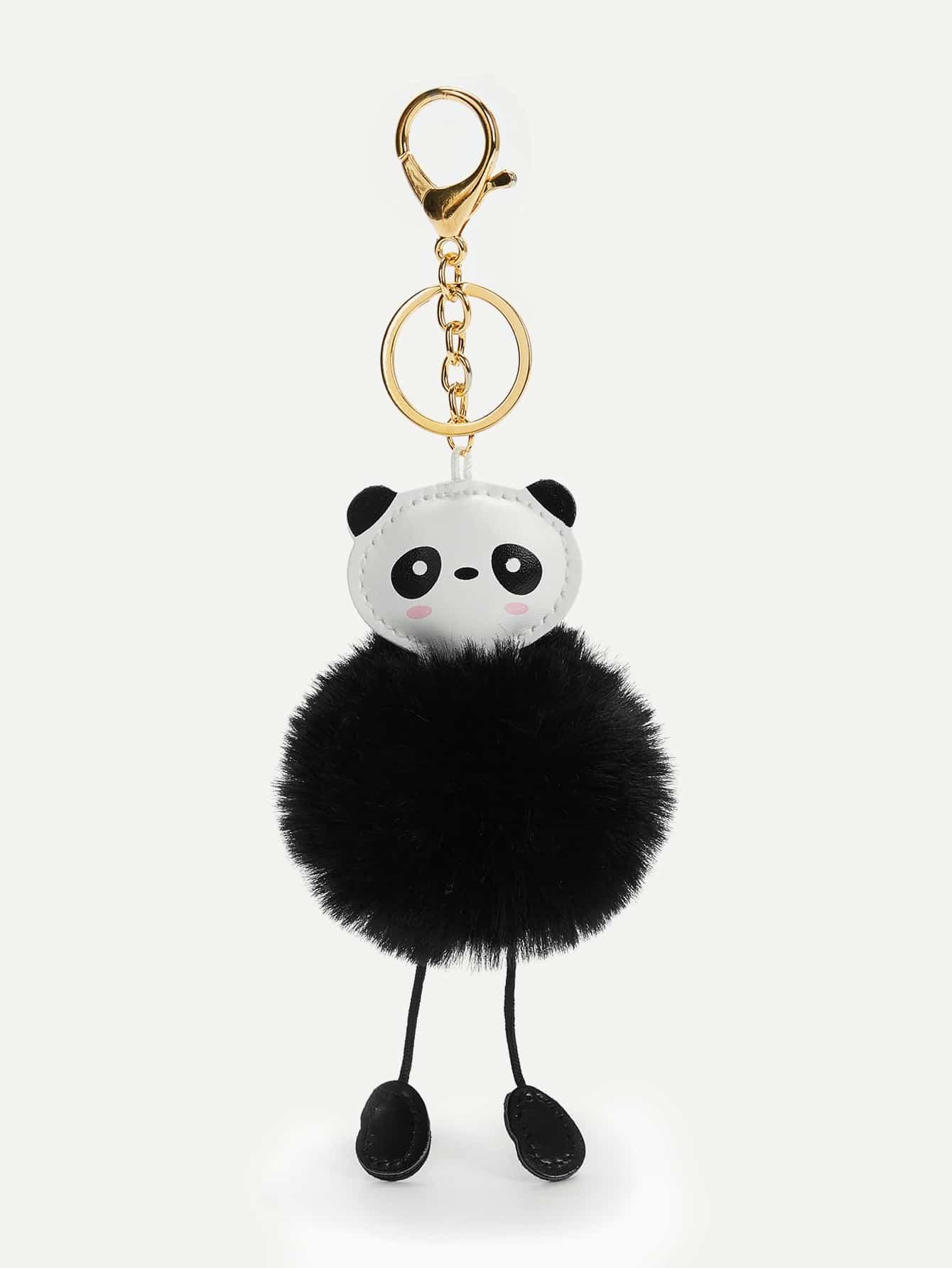 Купить Брелок для ключей с помпоном в форме панды, null, SheIn