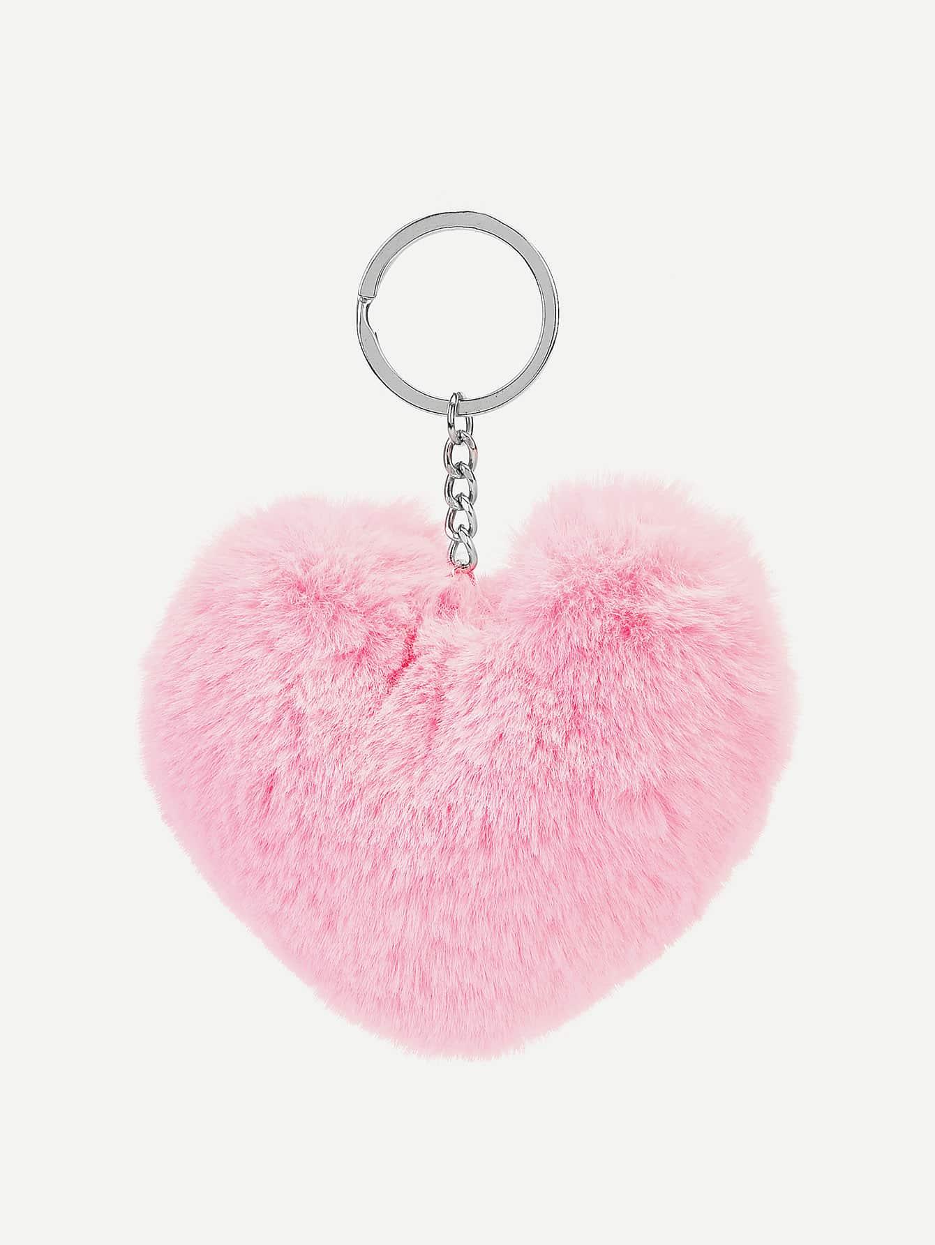Купить Брелок для ключей в форме пушистого сердца, null, SheIn