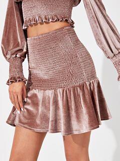 Shirred Panel Skirt
