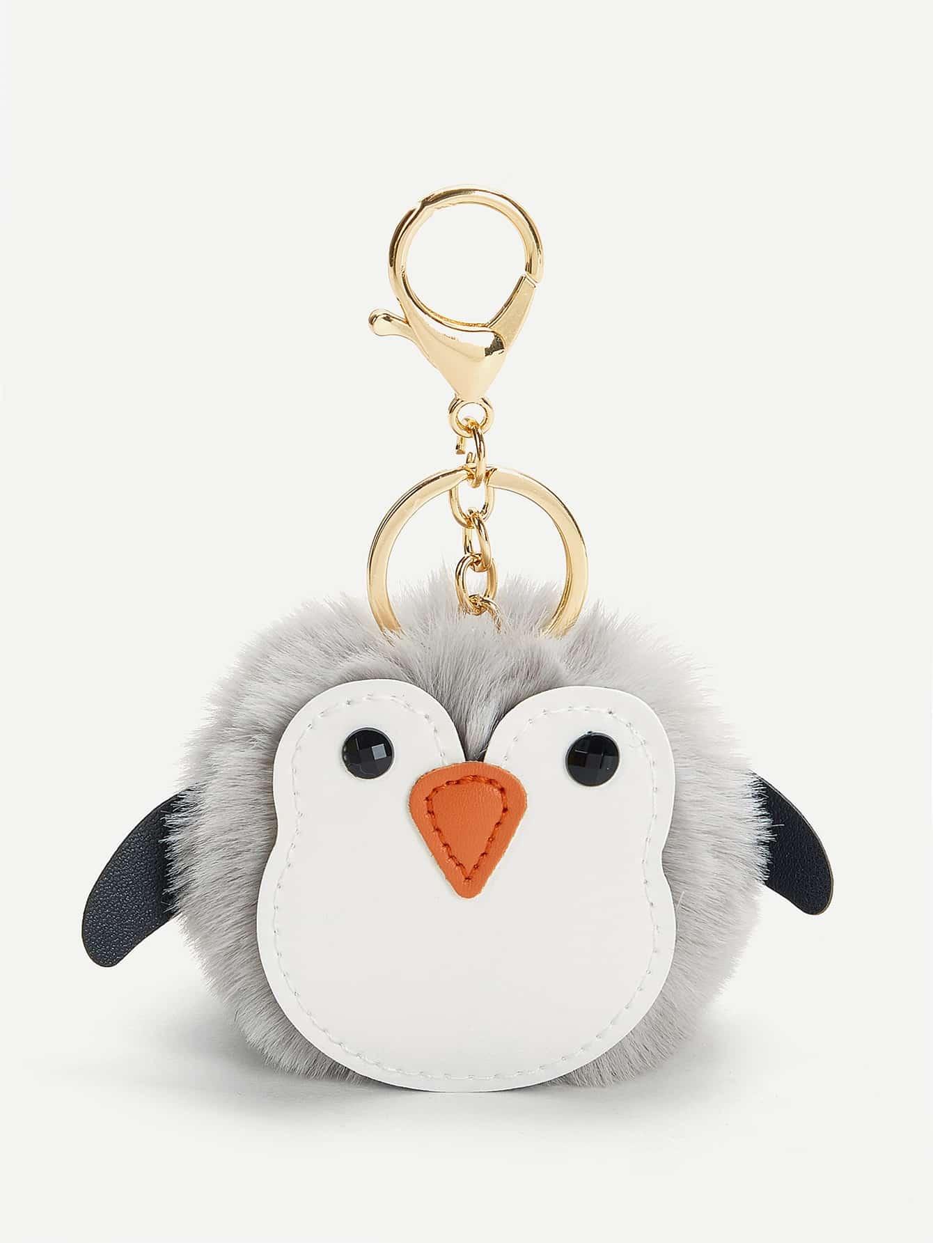 Купить Брелок для ключей с помпоном в форме пингвина, null, SheIn