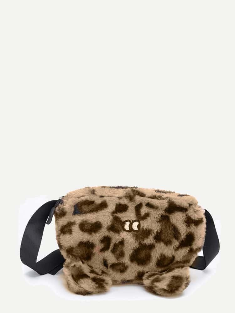 Купить Пушистая сумка с вышивкой для детей, null, SheIn