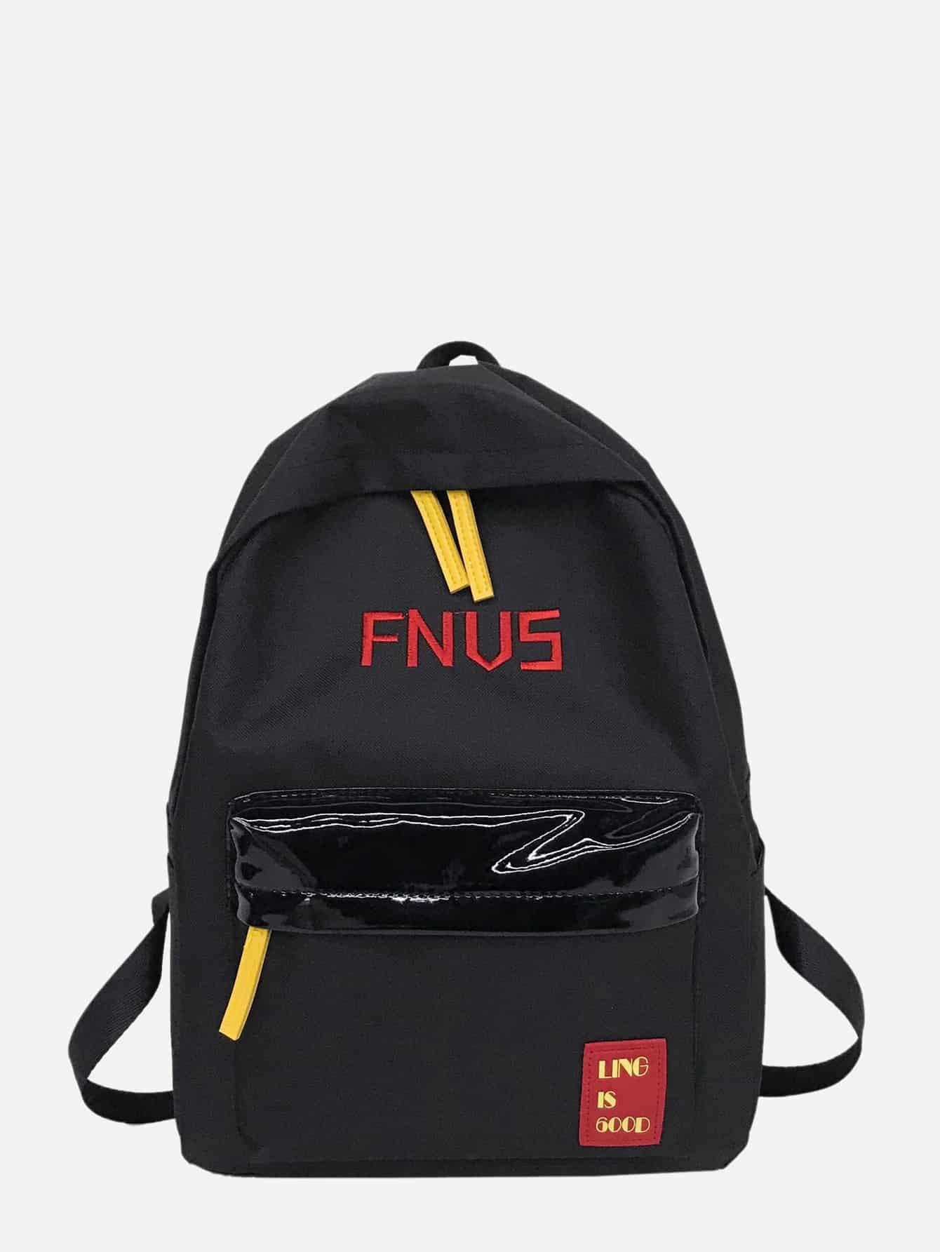 Купить Мужский рюкзак с вышитым текстовым принтом, null, SheIn