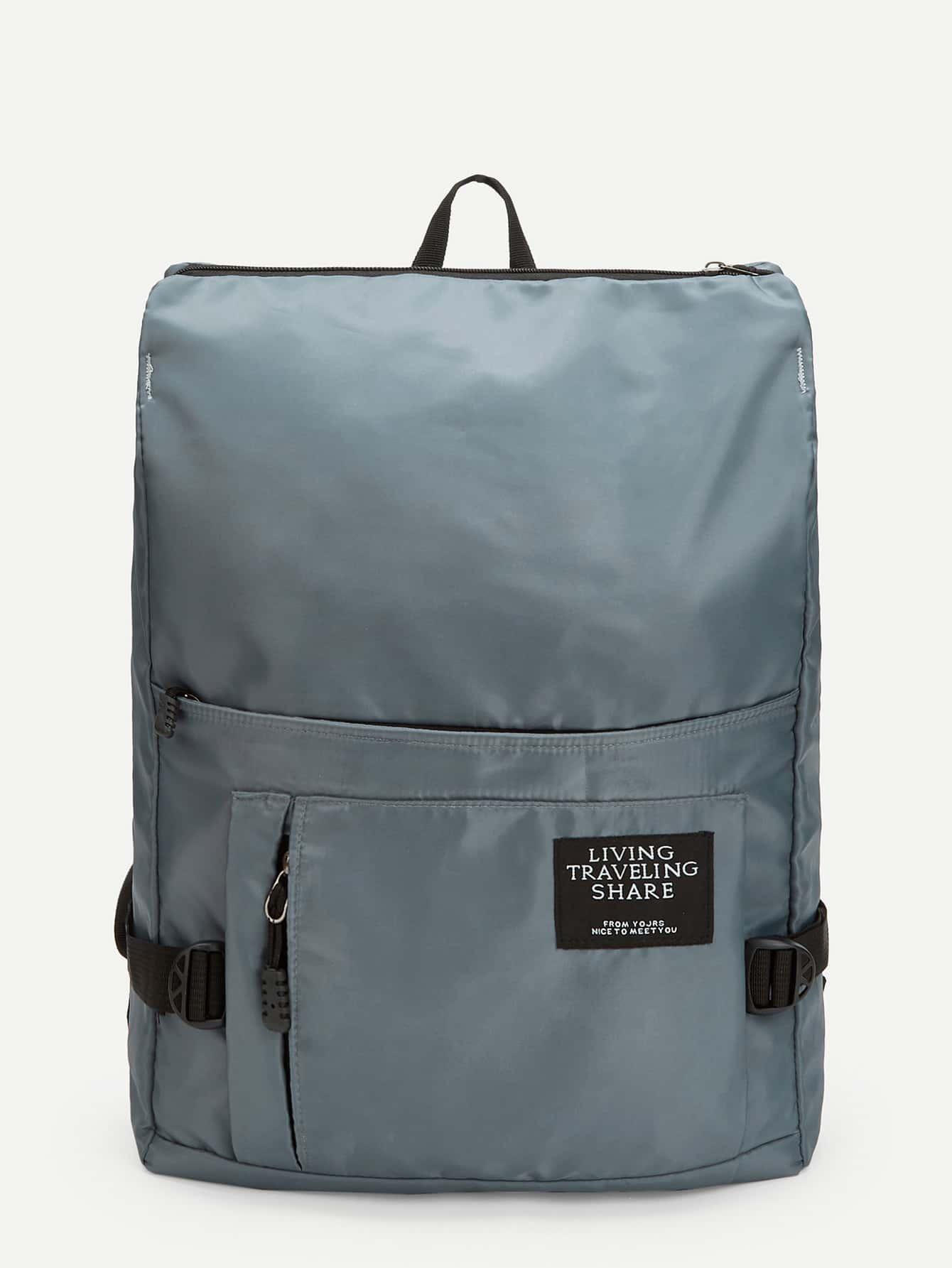 Купить Мужский квадратный нейлоновый рюкзак, null, SheIn