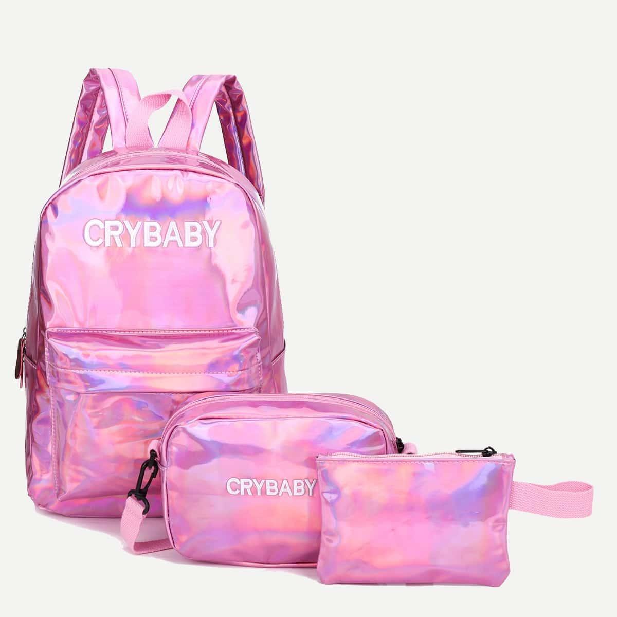 Рюкзак с вышивкой и кошельком 3 шт для детей