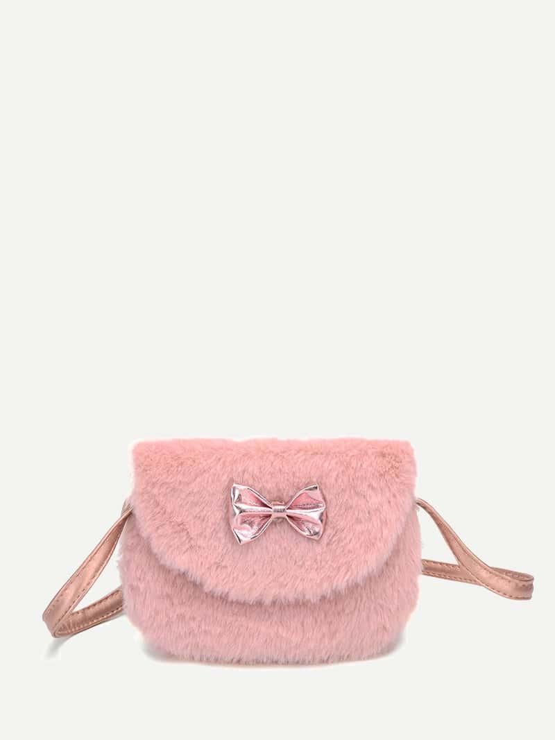 Купить Пушистая сумка с бантом для детей, null, SheIn