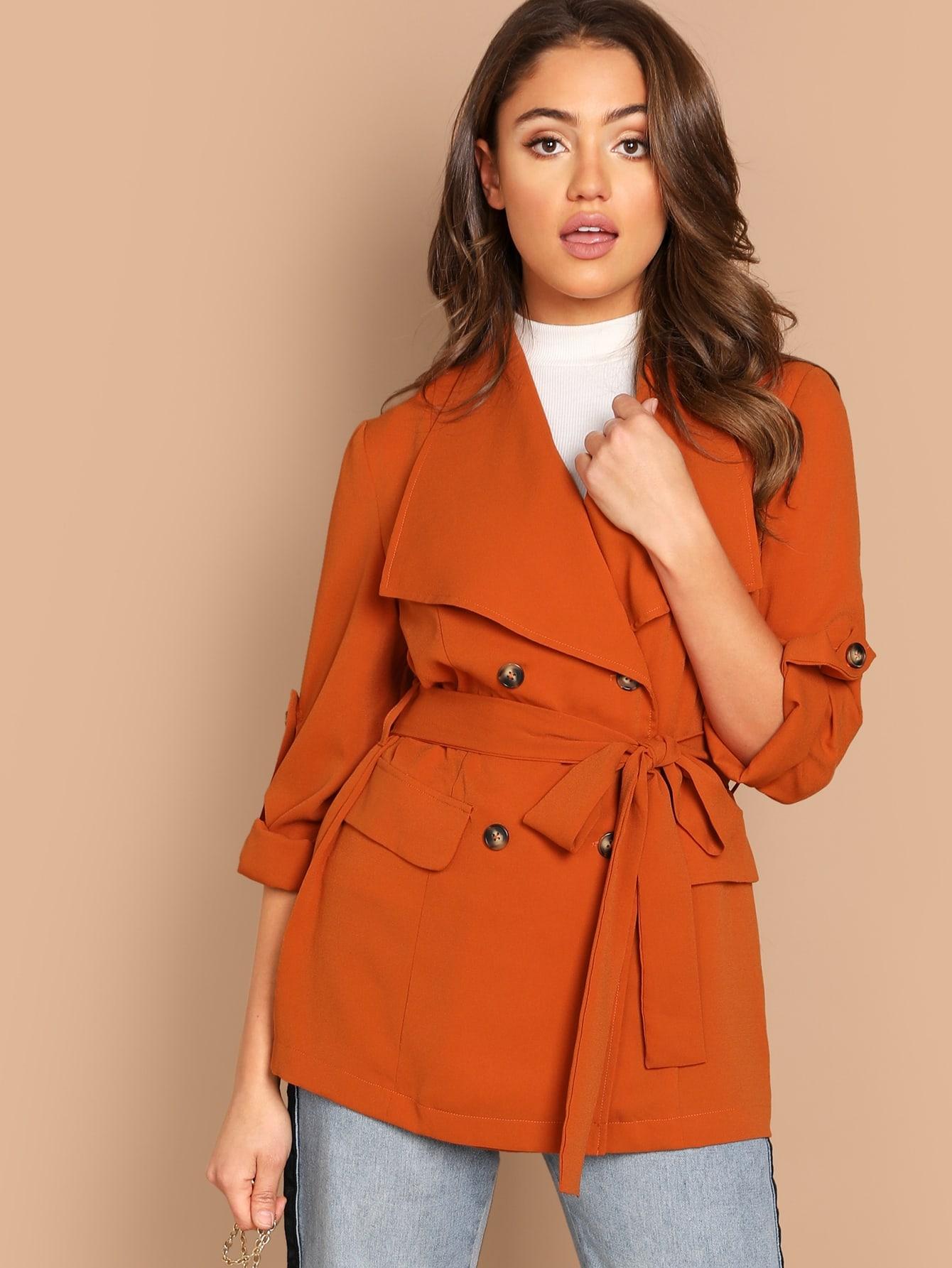 Пальто  Оранжевый цвета