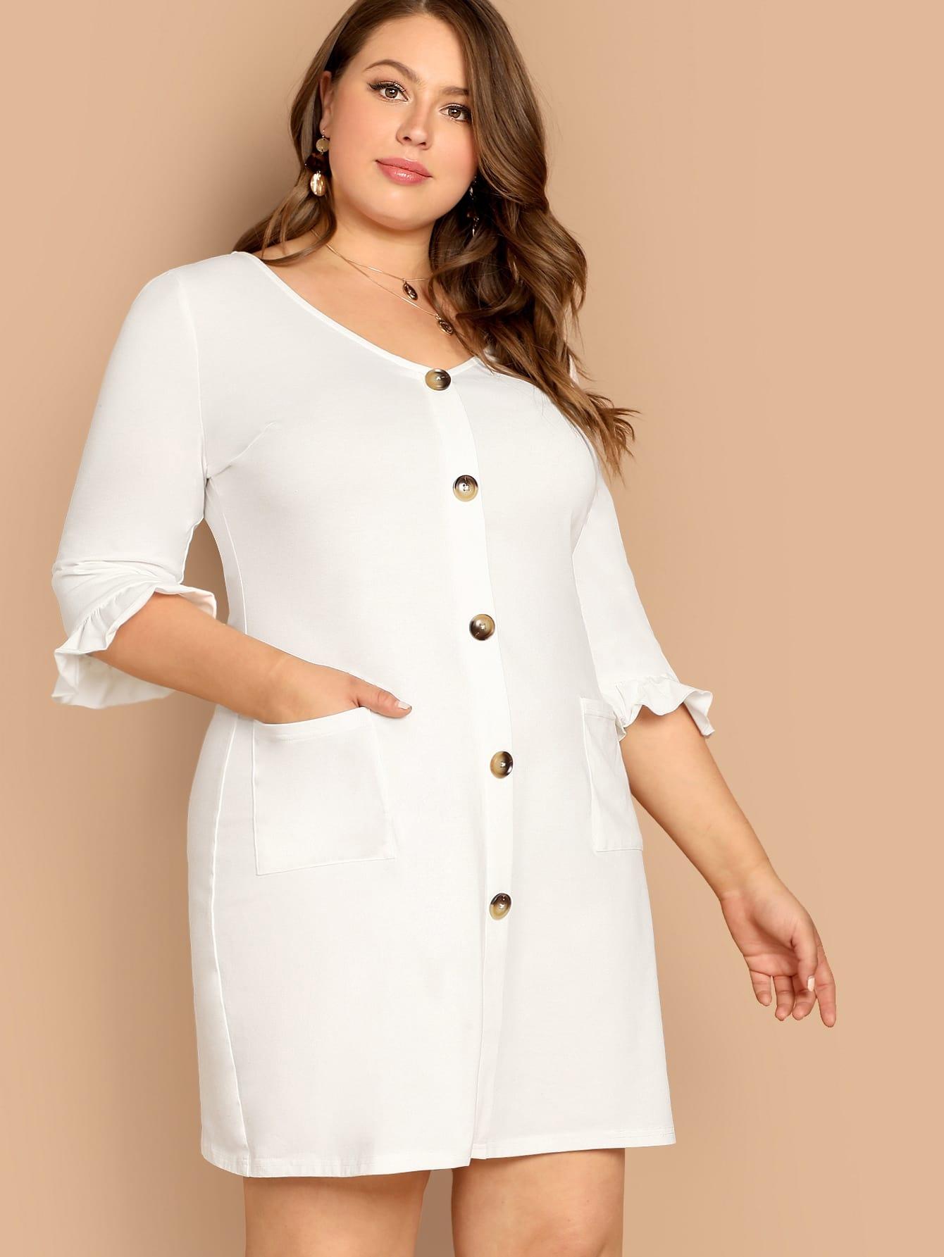 Купить Платье с пугоницами размера плюс, Bailey Carr, SheIn