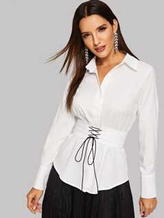 Solid Button Up Shirt