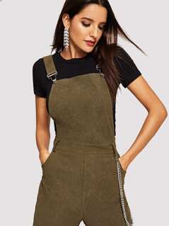 Thick Strap Pocket Patched Jumpsuit