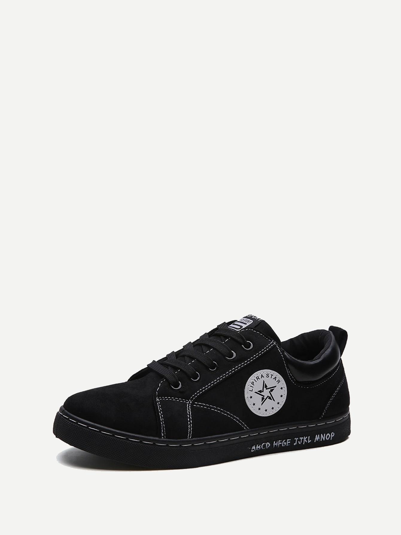 Купить Мужская спортивная обувь с шнуровкой и звездой, null, SheIn