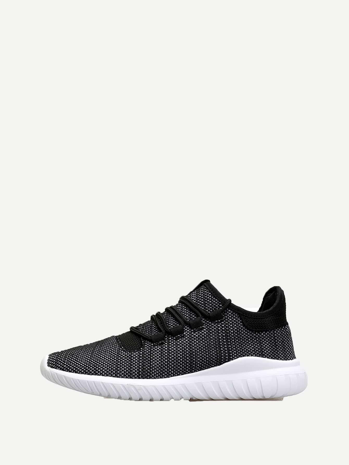 Купить Мужская спортивная обувь с шнуровкой и сеткой, null, SheIn