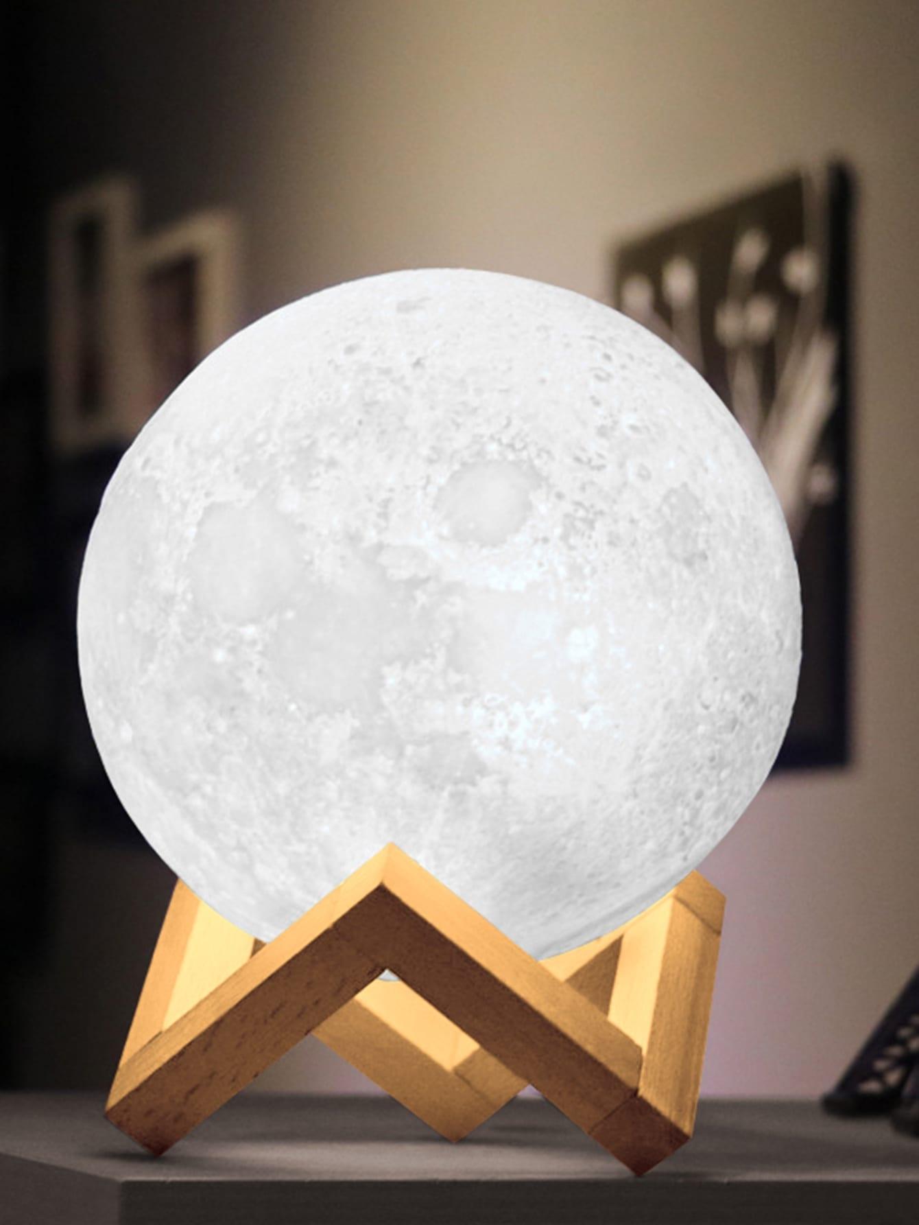 Купить Настольная лампа 12V в форме луны, null, SheIn