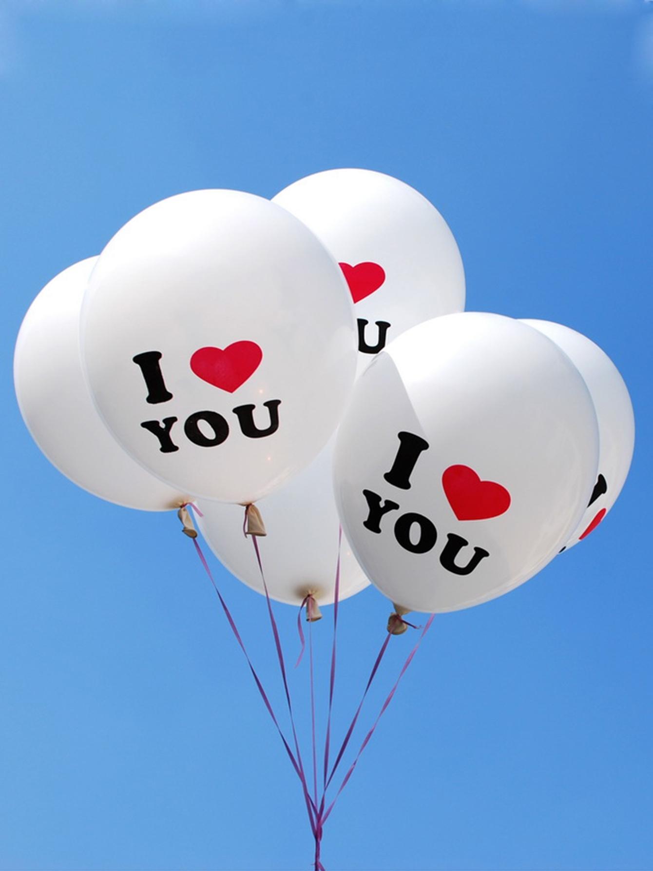 Купить Воздушный шар с текстовым принтом 10шт., null, SheIn