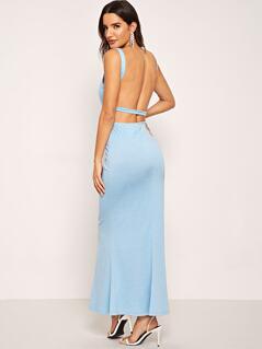 Sweetheart Solid Skinny Dress