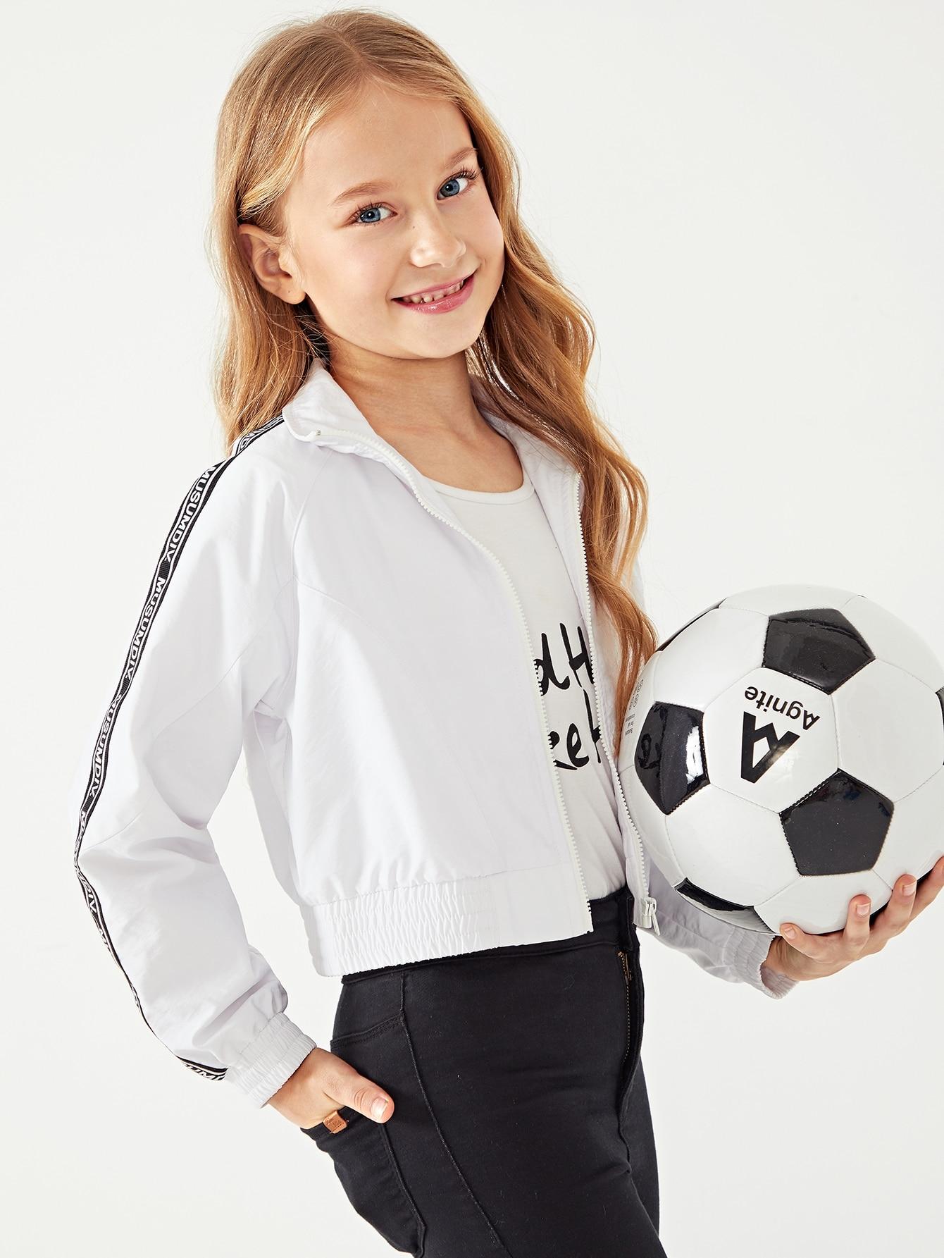Купить Для девочек куртка с принтом букв, Masha. P, SheIn
