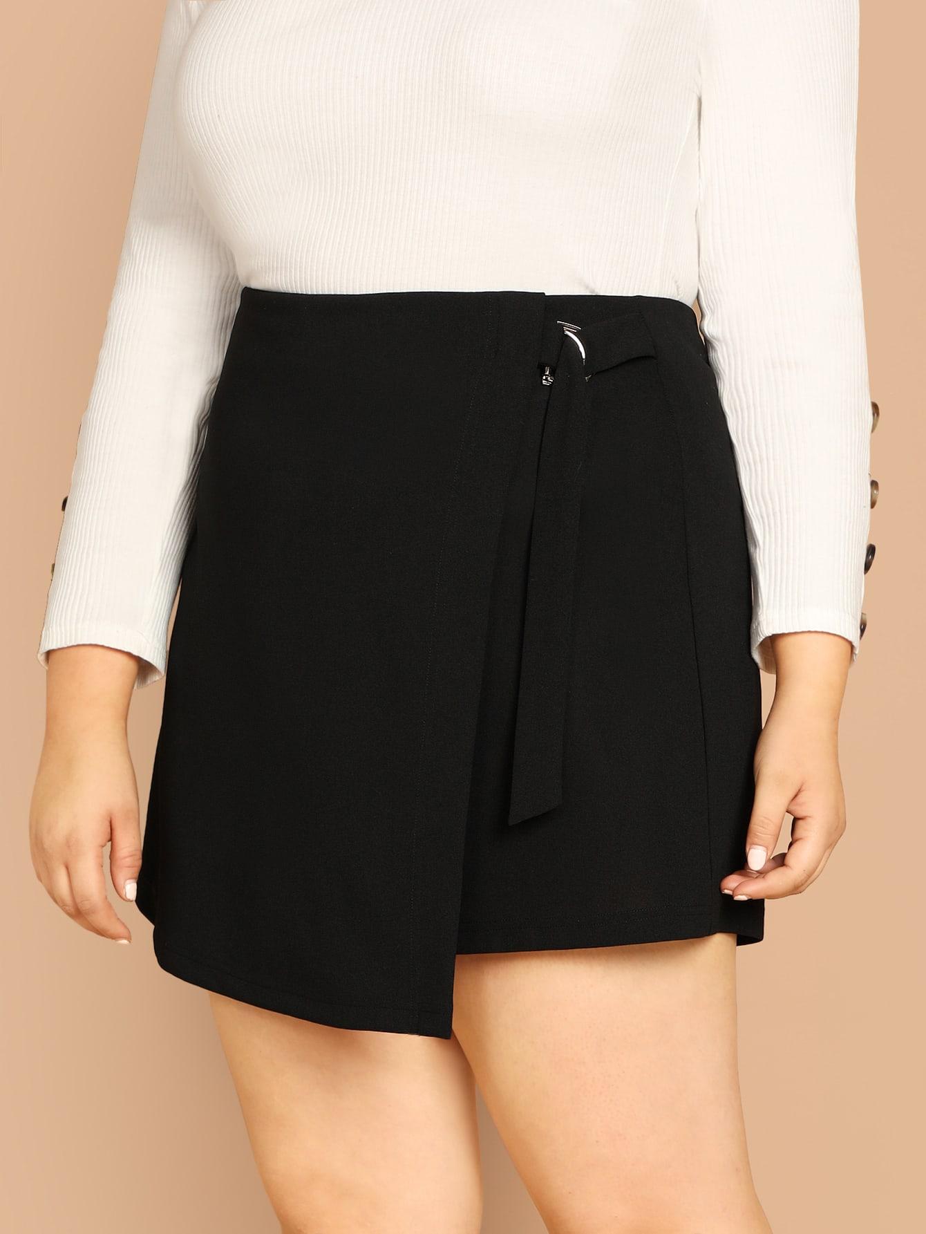 Купить Однотонные шорты размера плюс, Bailey Carr, SheIn