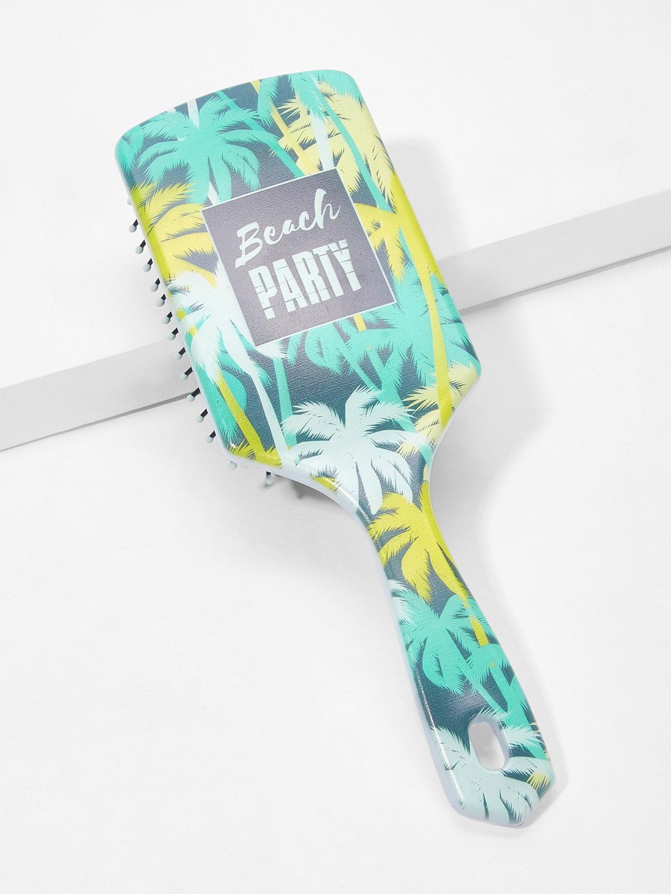 Купить Массажный гребень с принтом кокосовой пальмы, null, SheIn
