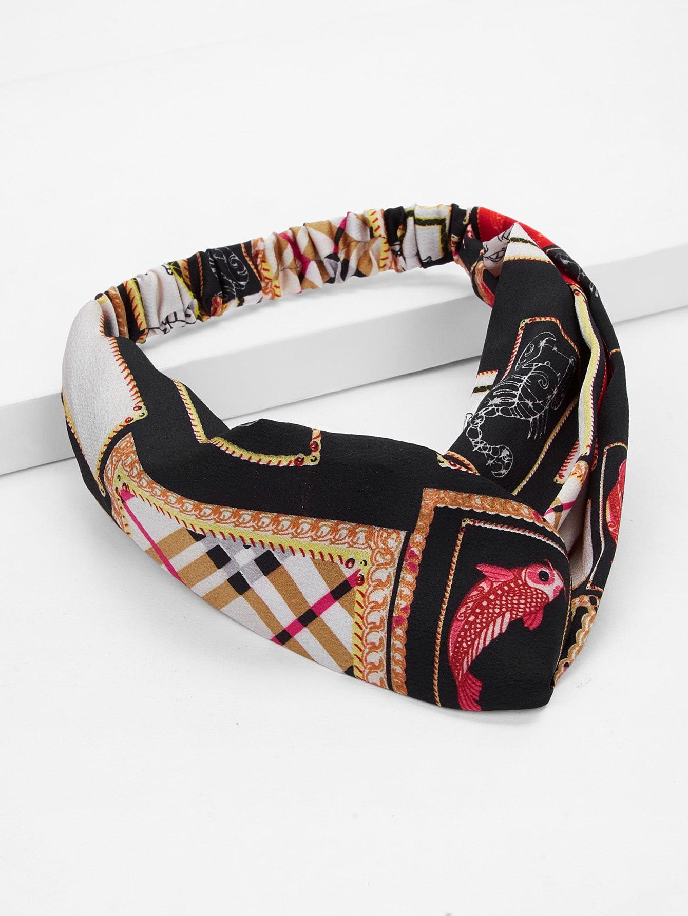Купить Контрастная повязка на голову с принтом козла, null, SheIn