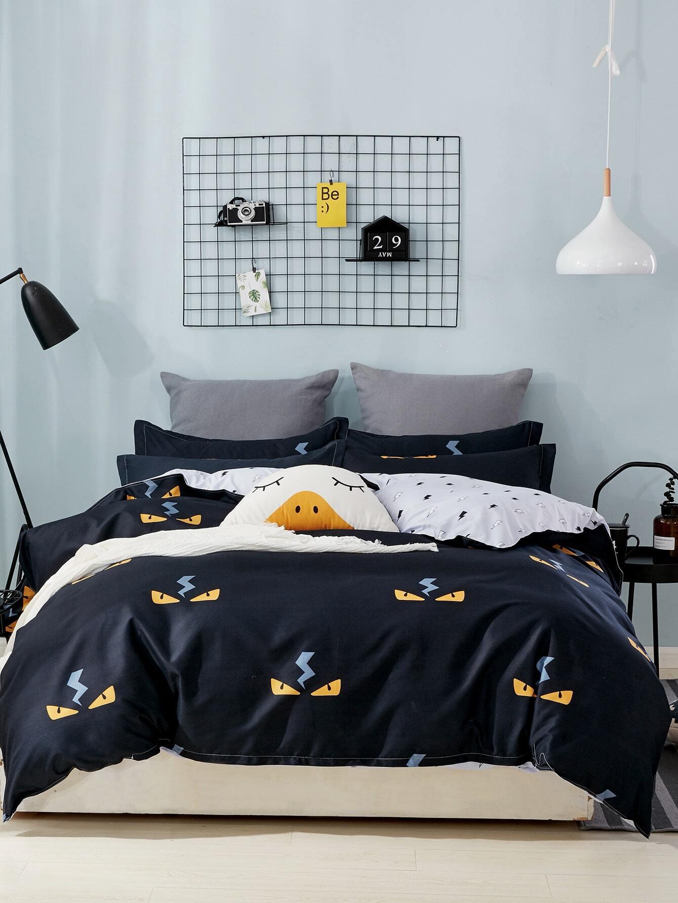 Купить Комплект для кровати с принтом галактики, null, SheIn