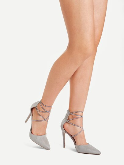 SheIn / Criss Cross Pointed Toe Stiletto Heels