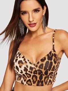 Leopard Print Bodice Cami Top