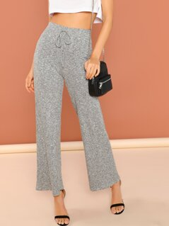 Knot Heathered Knit Pants