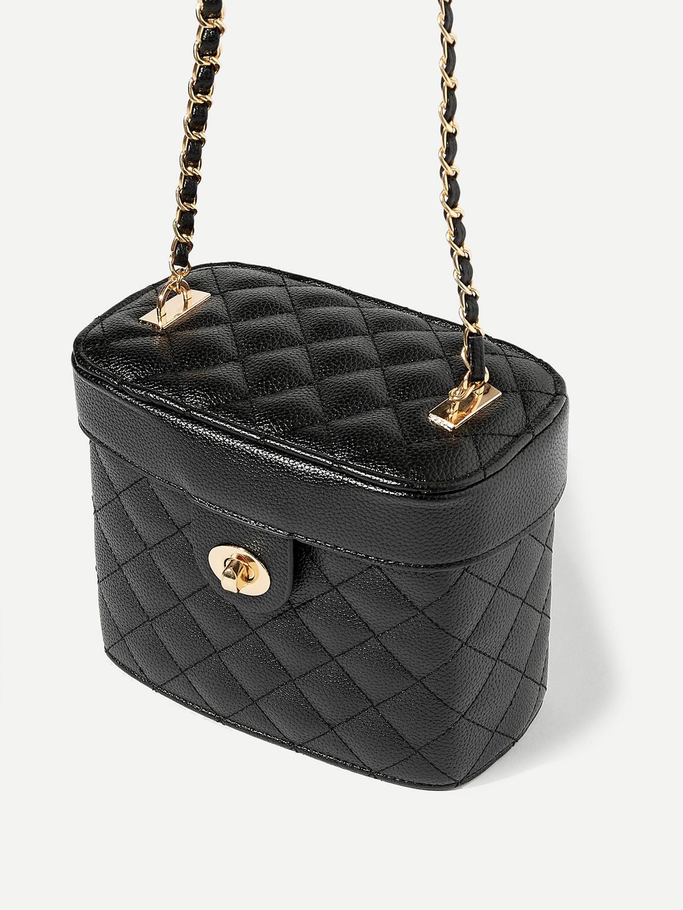 Купить Стеганая дизайнерская сумка-ведро, null, SheIn